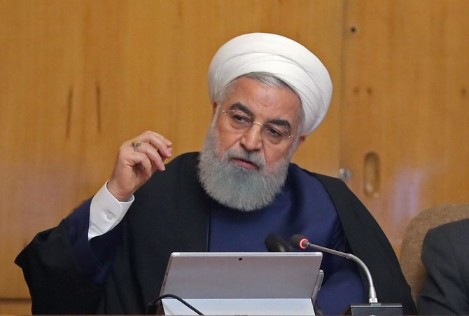 """Rouhani said the US is the party that """"trampled"""" the negotiations. (File/AFP)"""
