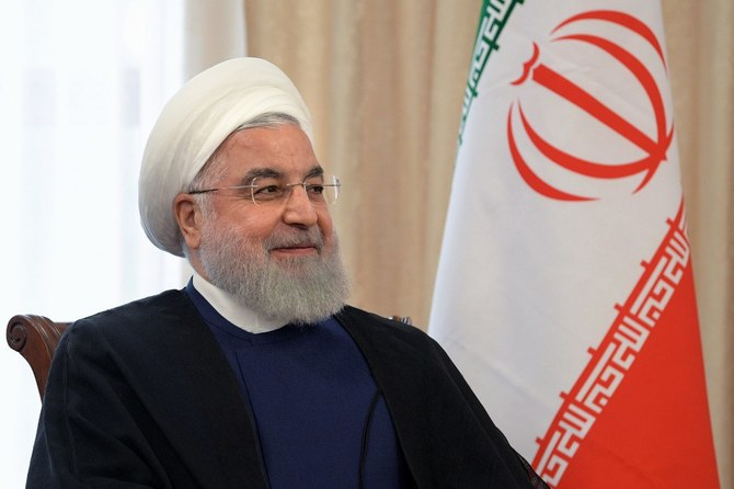 Iranian President Hassan Rouhani, speaking on live TV, said his country will not wage war against any nation. (AFP)