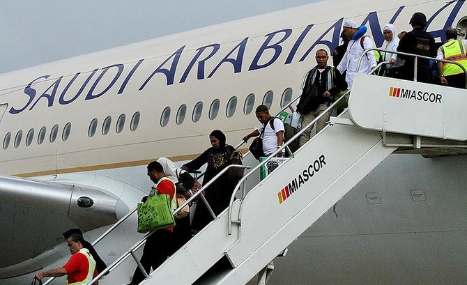 Saudi Arabian Airlines is attending the Paris Air Show. (File/AFP)