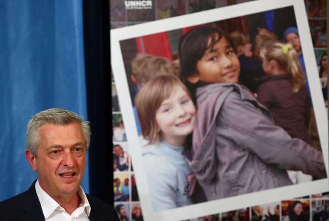 Filippo Grandi, the UN High Commissioner for Refugees, said it was 'damaging' to depict migrants and refugees as threats to jobs and security in host countries. (Reuters)