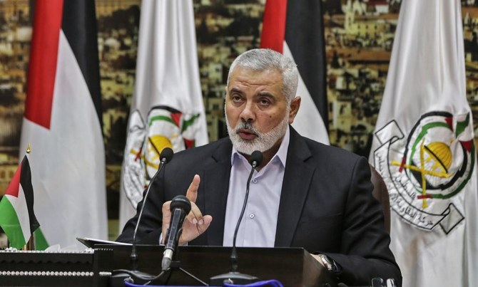 Ismail Haniyeh, above, said Israel is not respecting the agreement. (File/AFP)