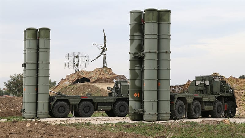 The S-400 system has been a growing source of discord between Turkey and the US [File: Handout via AP Photo]
