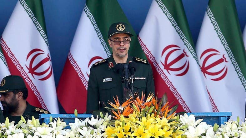 Chief of Staff of Iran's Armed Forces, General Mohammad Hossein Bagheri delivers a speech during a military parade marking the 36th anniversary of Iraq's 1980 invasion of Iran. (File photo: AFP)