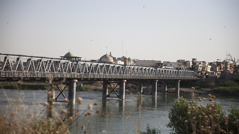 Two years after the liberation of Mosul, the First Bridge or Old Bridge is the only fully restored bridge among the five in the city [Tessa Fox/Al Jazeera]
