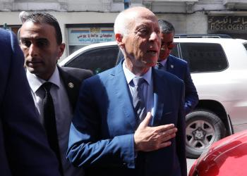 Presidential candidate Kais Saied arrives at his campaign headquarters, as the country awaits the official results of the presidential election, in Tunis, Tunisia September 17, 2019. REUTERS/Muhammad Hamed
