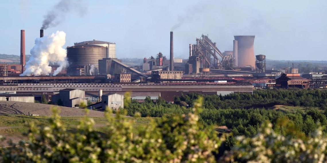 FILE PHOTO: A general view shows the British Steel works in Scunthorpe, Britain, May 21, 2019. REUTERS/Scott Heppell - RC180C44C550/File Photo