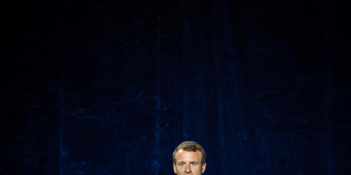 French President Emmanuel Macron attends the inauguration of 'Le Maillon' theater in Strasbourg, France, October 1, 2019. Patrick Seeger/Pool via REUTERS