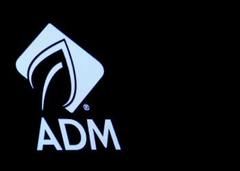 The Archer Daniels Midland Co. (ADM) logo is displayed on a screen on the floor of the New York Stock Exchange (NYSE) in New York, U.S., May 3, 2018. REUTERS/Brendan McDermid