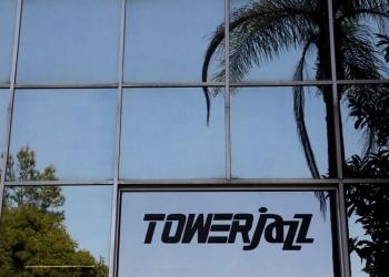 The logo of Israeli chipmaker TowerJazz is seen at their offices in Migdal HaEmek, northern Israel September 13, 2017. Picture taken September 13, 2017. REUTERS/Ronen Zvulun
