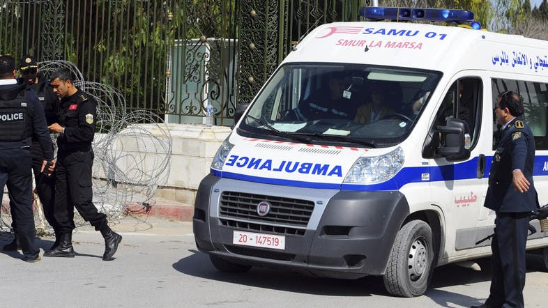 An ambulance in the capital city of Tunis on March 18, 2015. (File photo: AP)