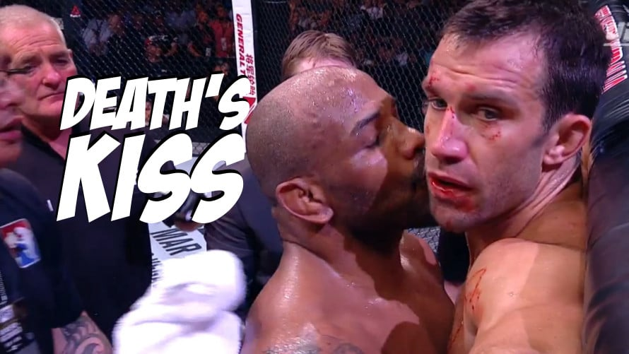 Image result for yoel romero luke rockhold kiss