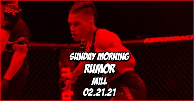 Usman Double Champ Quest, Sijara Eubanks Escapades, % More on the Sunday Morning Rumor Mill
