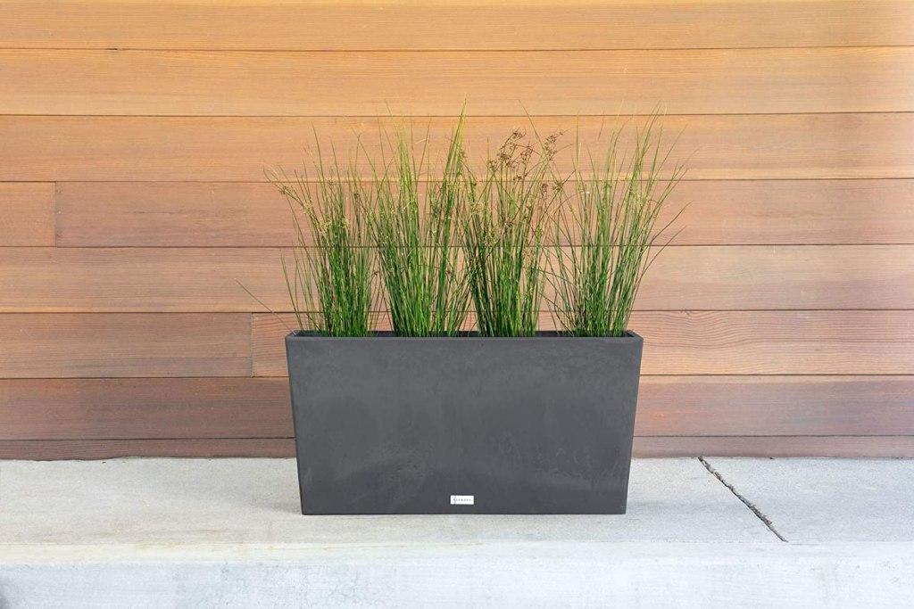 Midori Black Outdoor Planter
