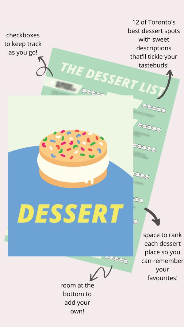 Toronto Best Dessert Checklist