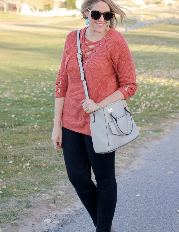 Lace Up Sweater & The Weekly Style Edit Link Up