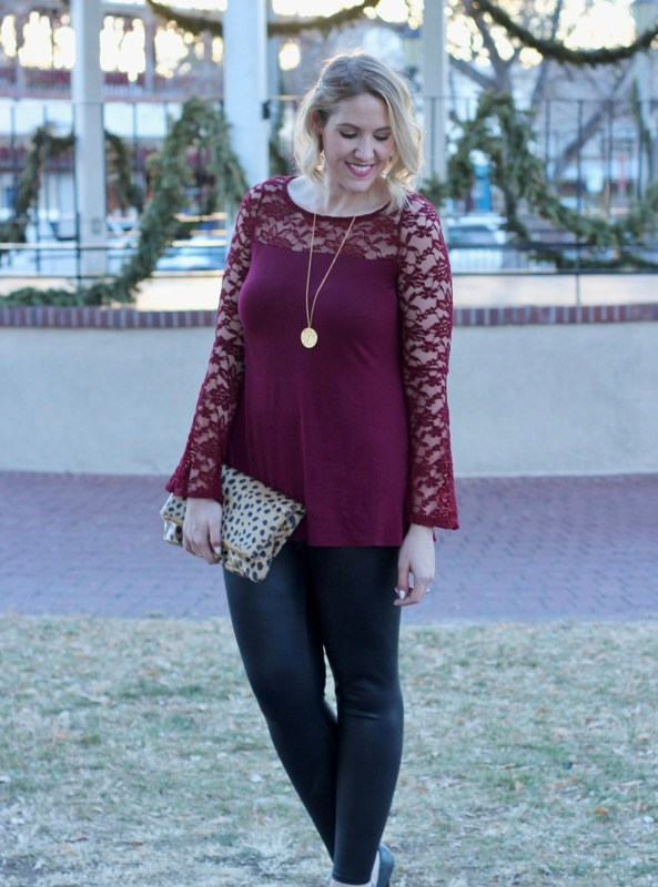 Lace Bell Sleeves for The Holidays & The Weekly Style Edit Link Up