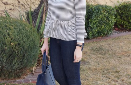 Striped Peplum & The Weekly Style Edit Link Up