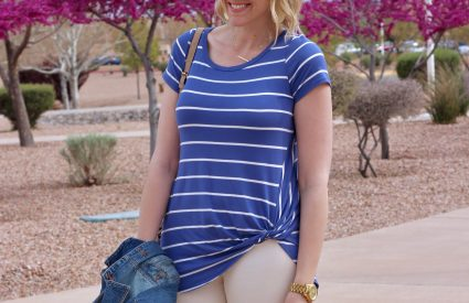 The Perfect Knot Tie Striped Tee