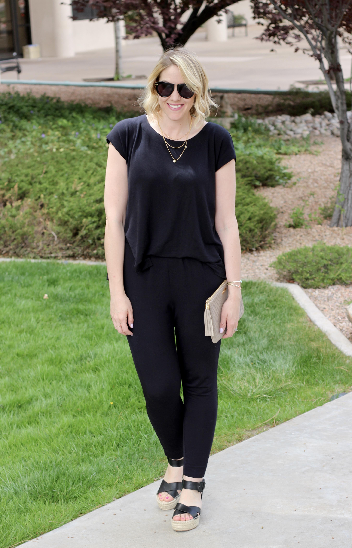 Cabi black jumpsuit for spring