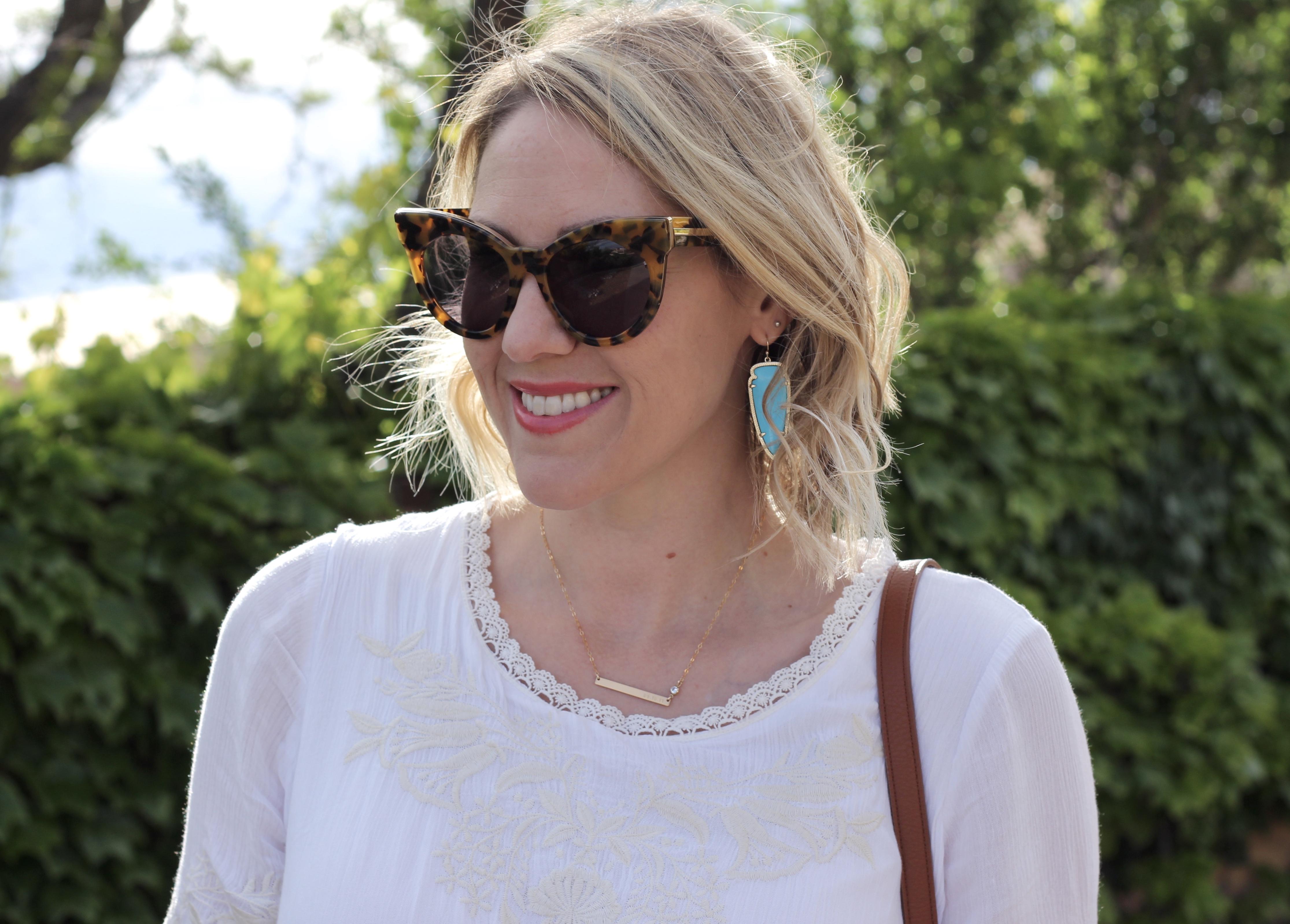 turquoise Kendra Scott earrings