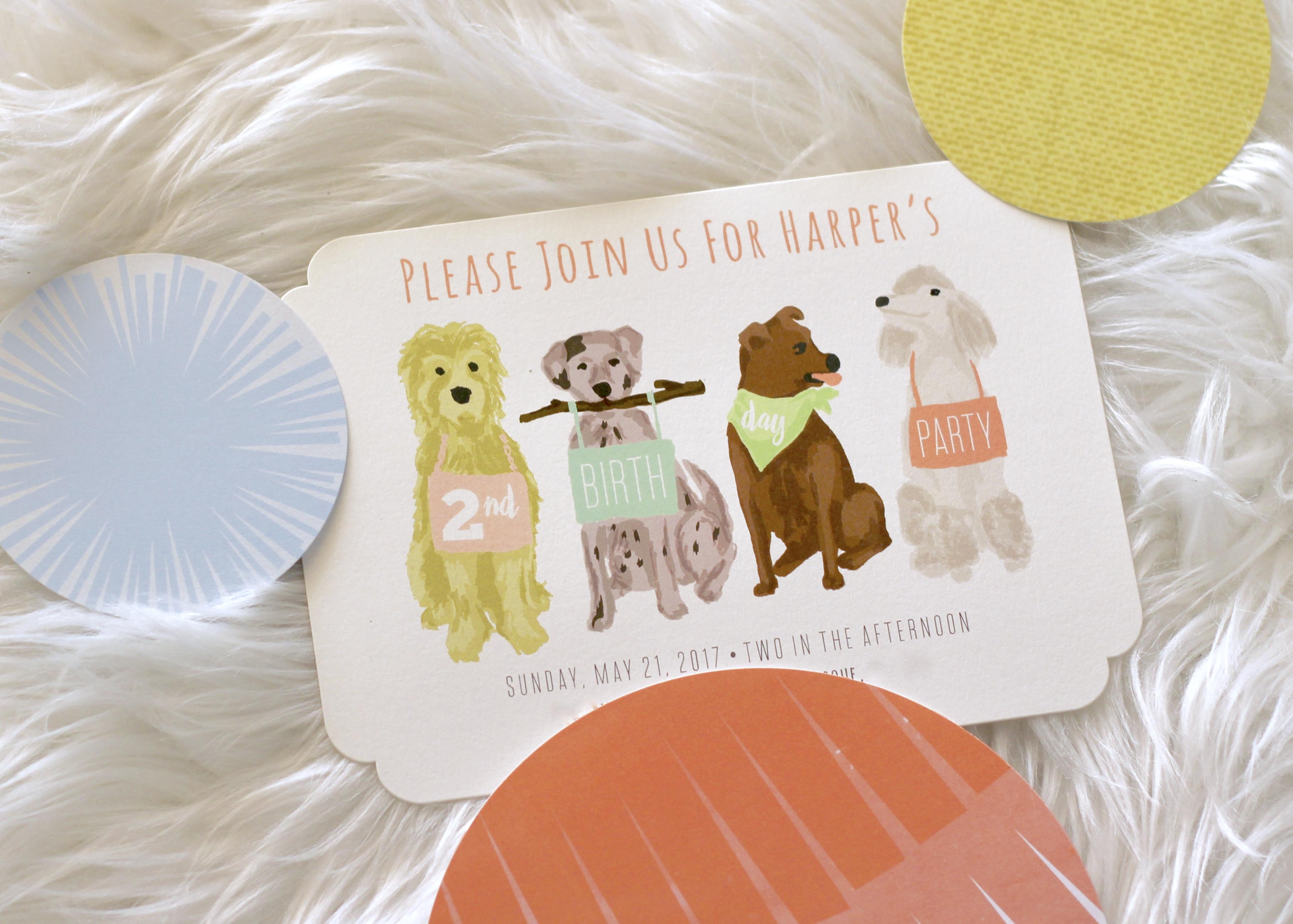 puppy birthday party invitations