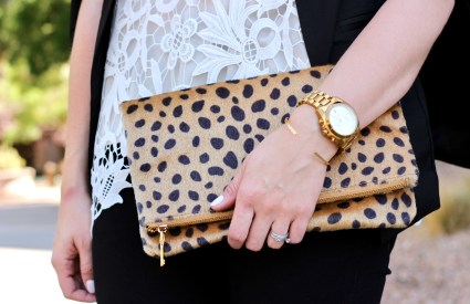 Date Night Style // Leopard Print & Lace