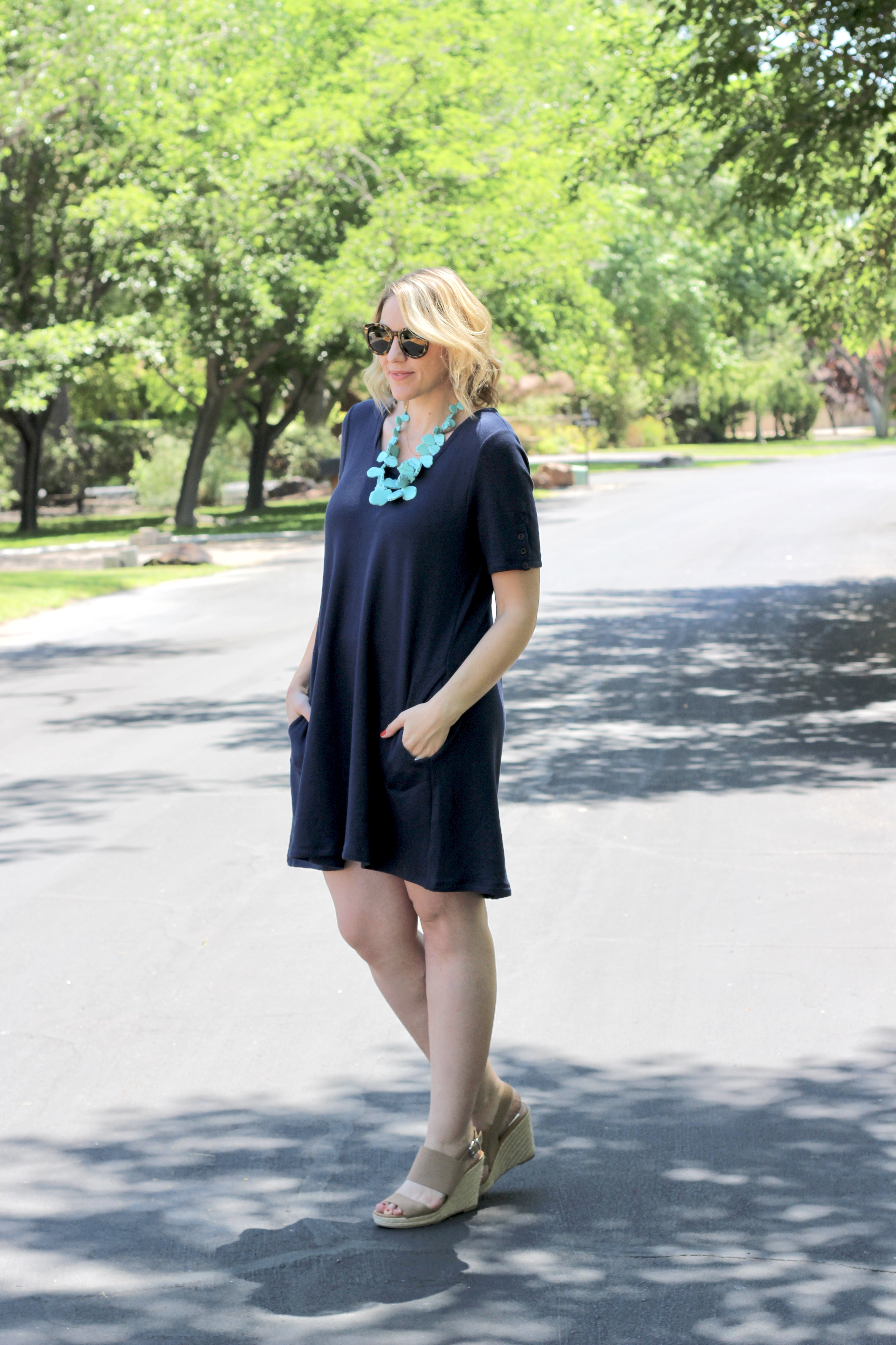 navy dress from Evy's Tree
