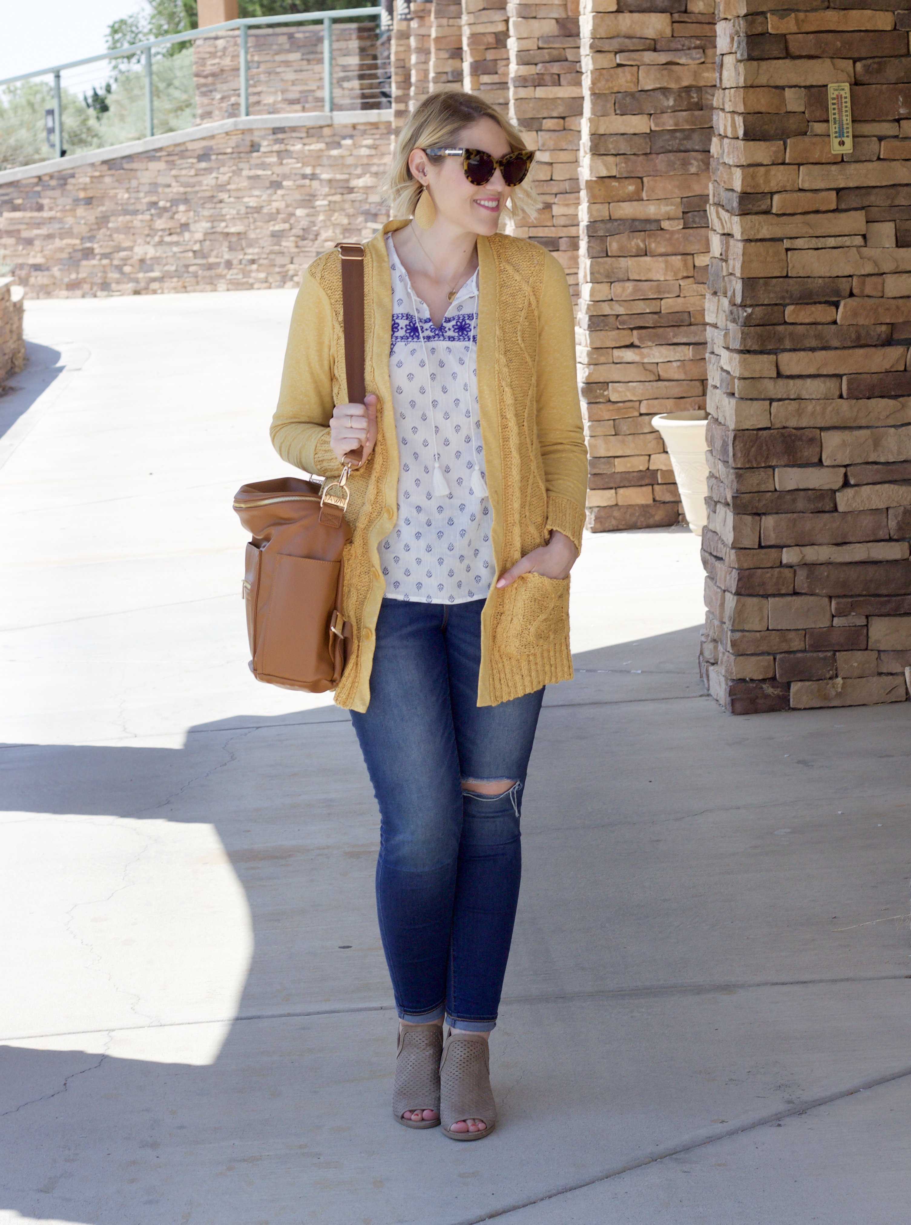 fall transitional outfit for women