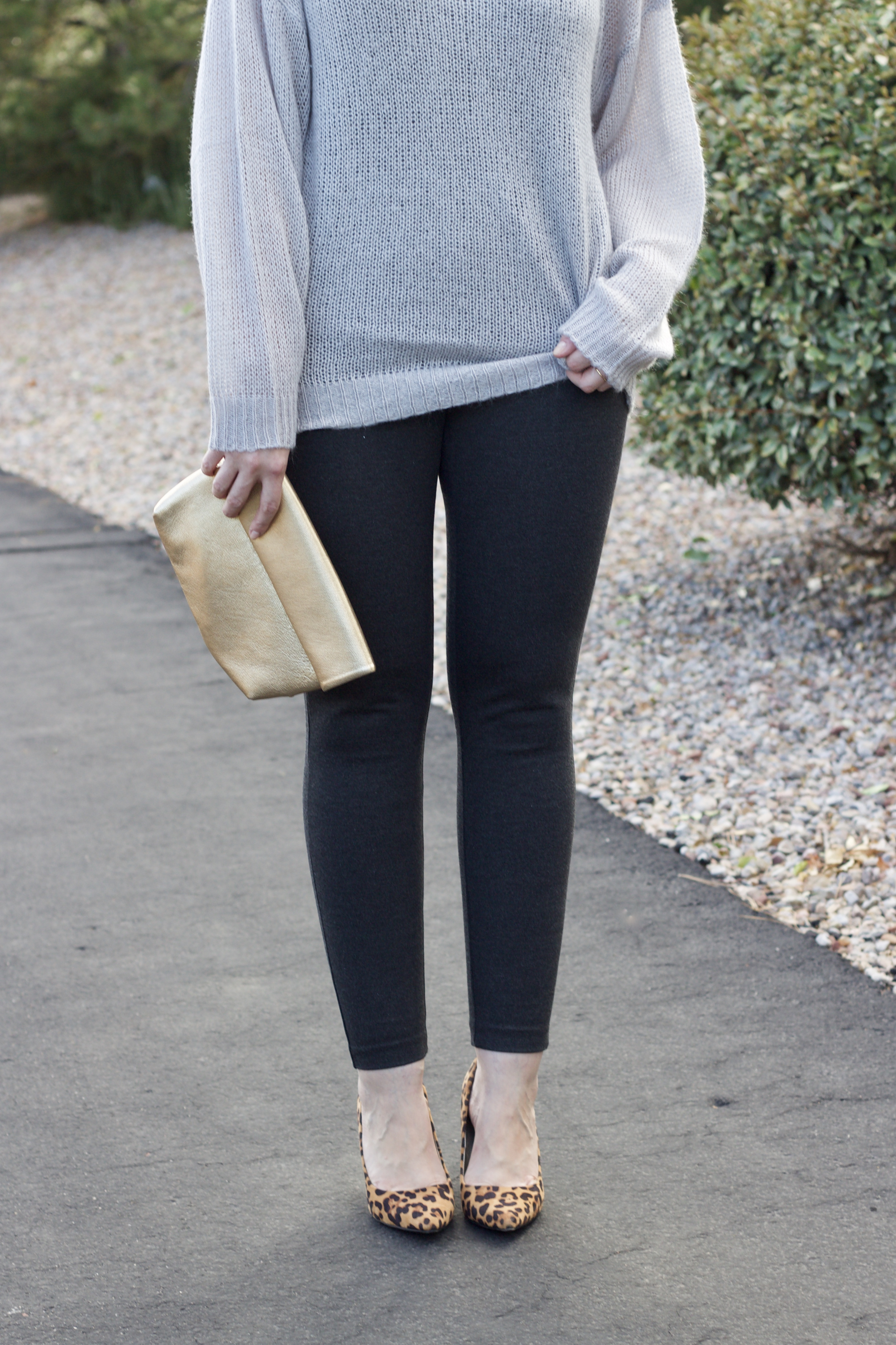 JCrew pixie pants and oversized sweater