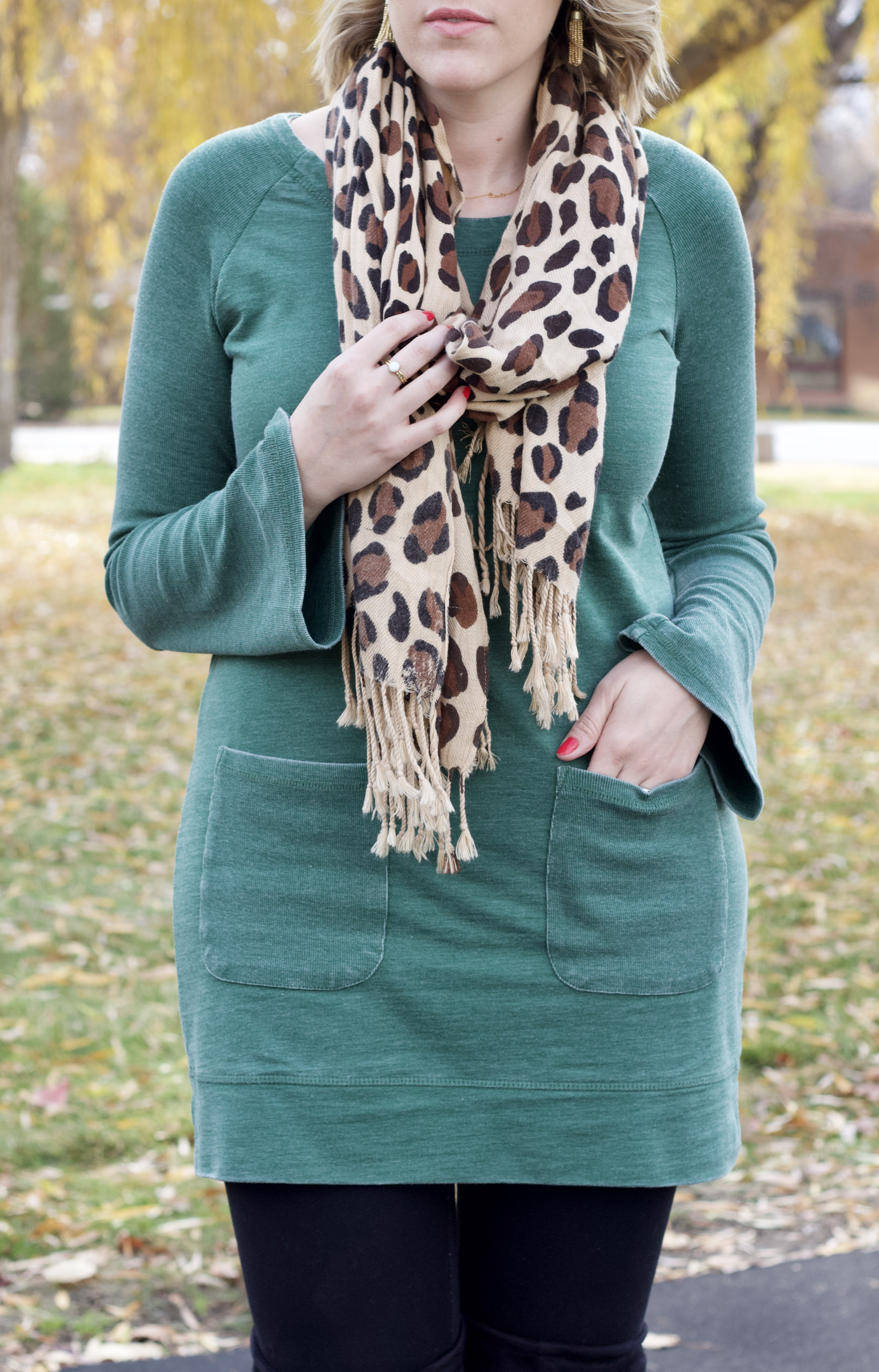 perfect holiday tunic outfit