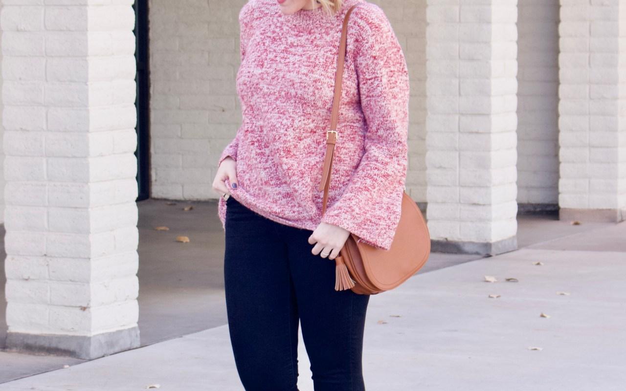Bell Sleeve Sweater & Leopard Flats