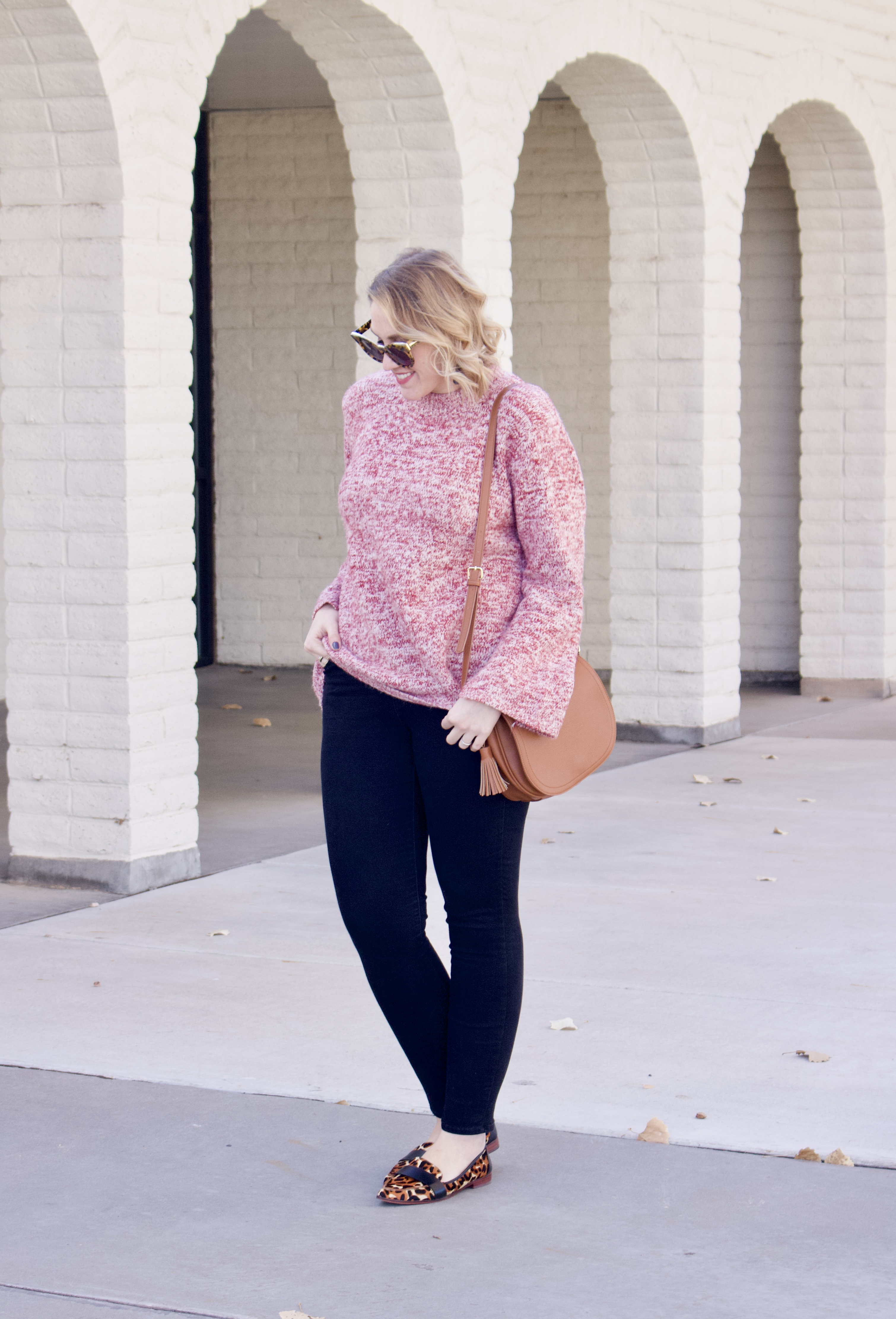 how to wear a bell sleeve sweater