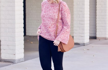 Bell Sleeve Sweater & Leopard Flats