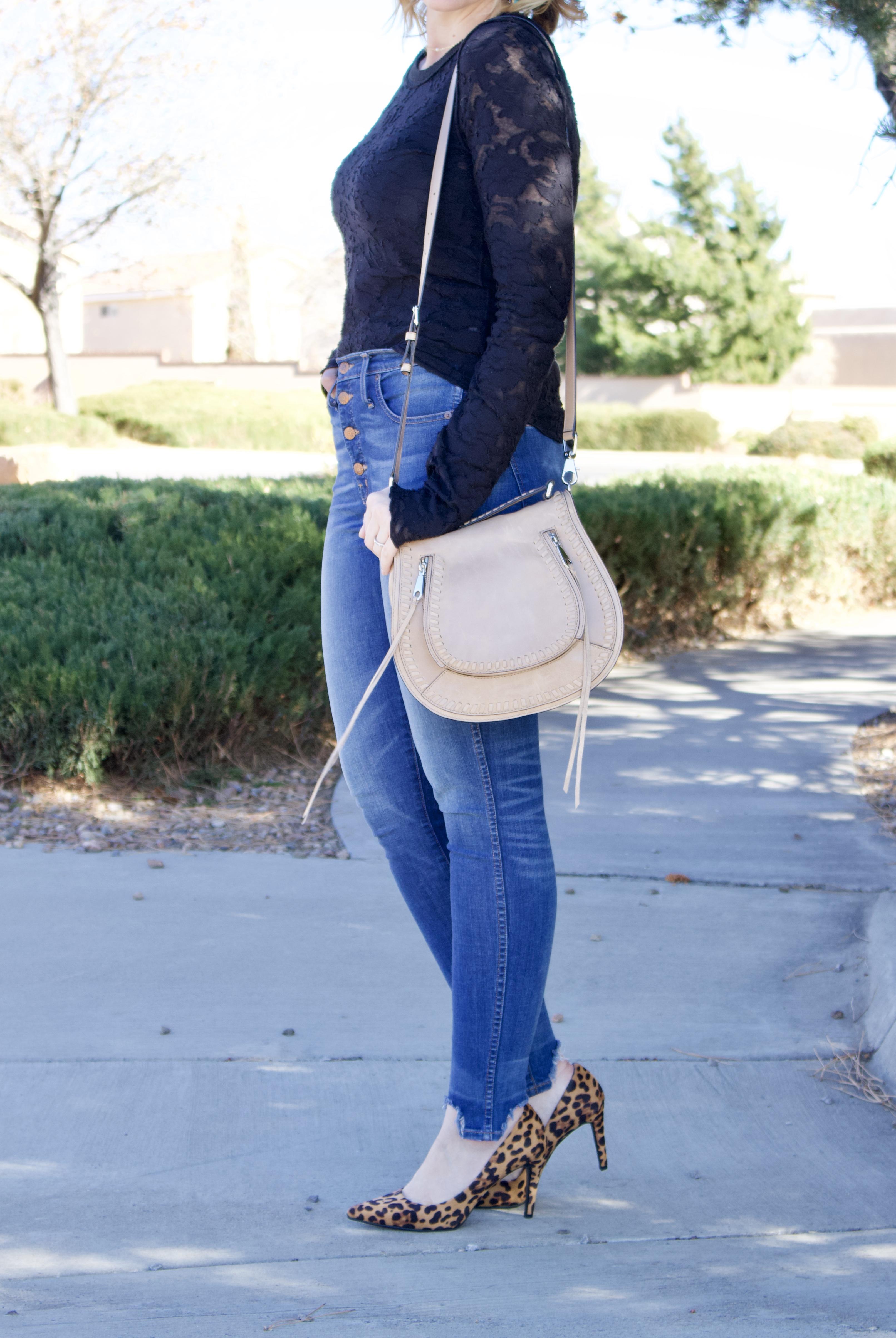 rebecca minkoff vanity saddlebag #rebeccaminkoff #leopardheels #curvyfashion