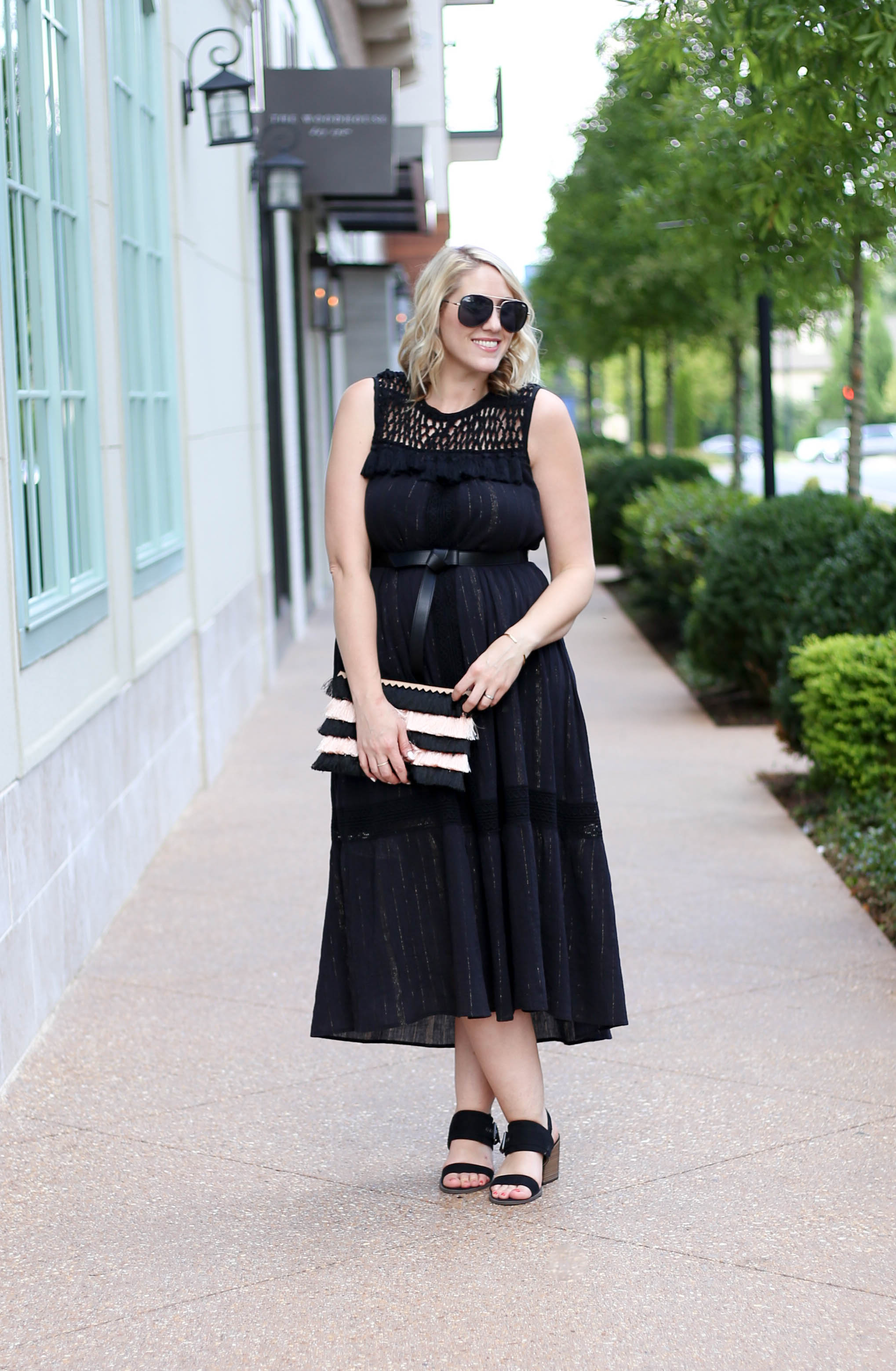 black boho dress anthropologie #blackdress #lbd #maxidress