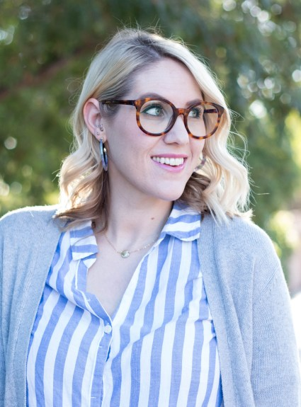 Striped Button Front Top: The Weekly Style Edit