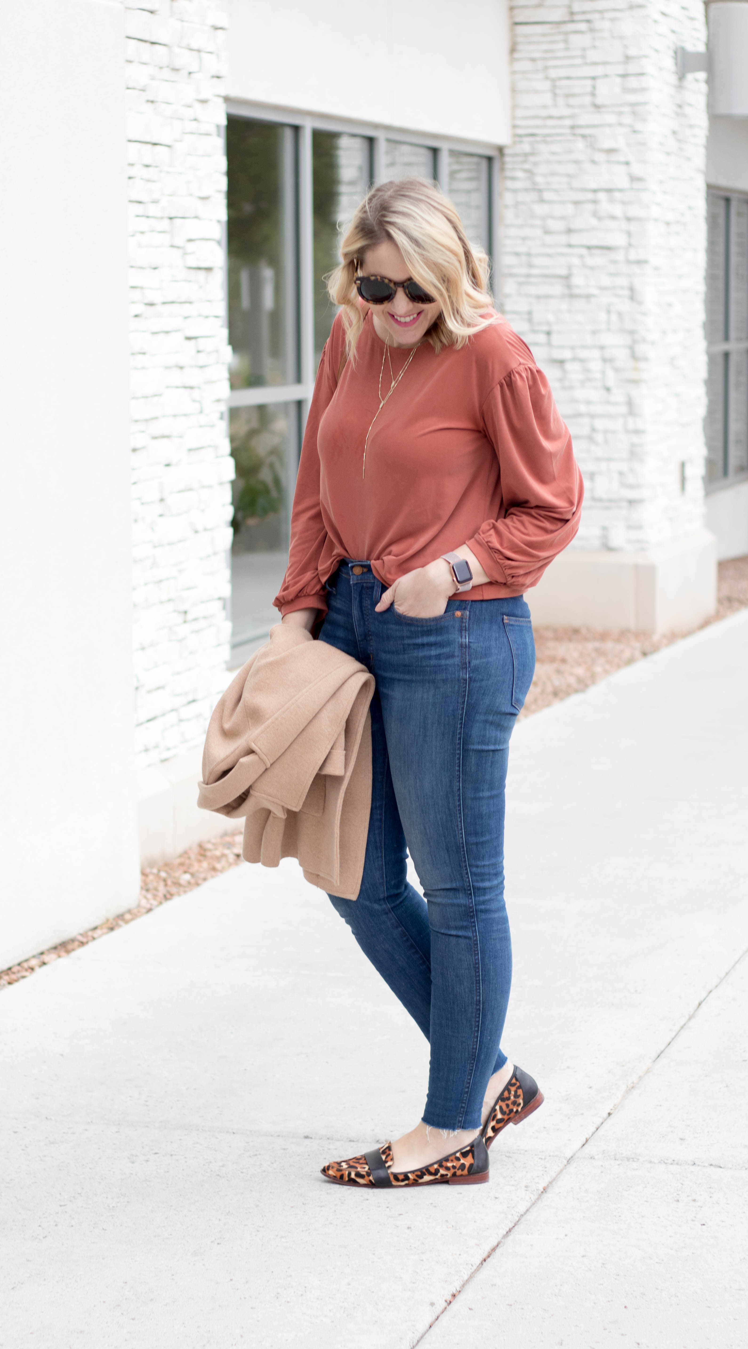casual fall outfit for tall girls #fallstyle #tallfashion #madewelloutfit