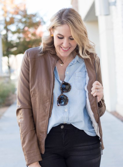 Faux Leather Bomber Jacket: The Weekly Style Edit