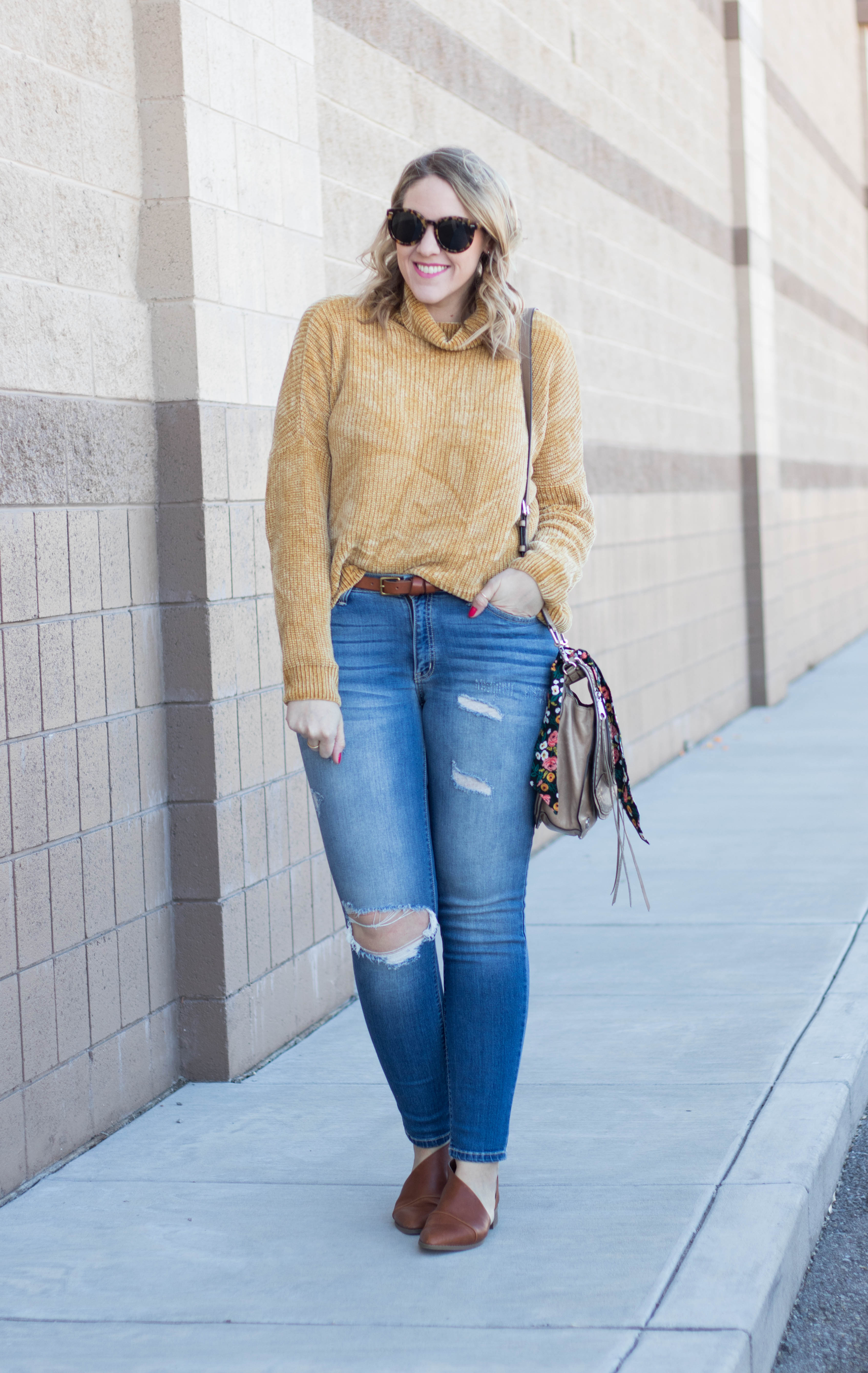 two ways to wear mustard yellow #yellow #winterstyle #bellaellaboutique