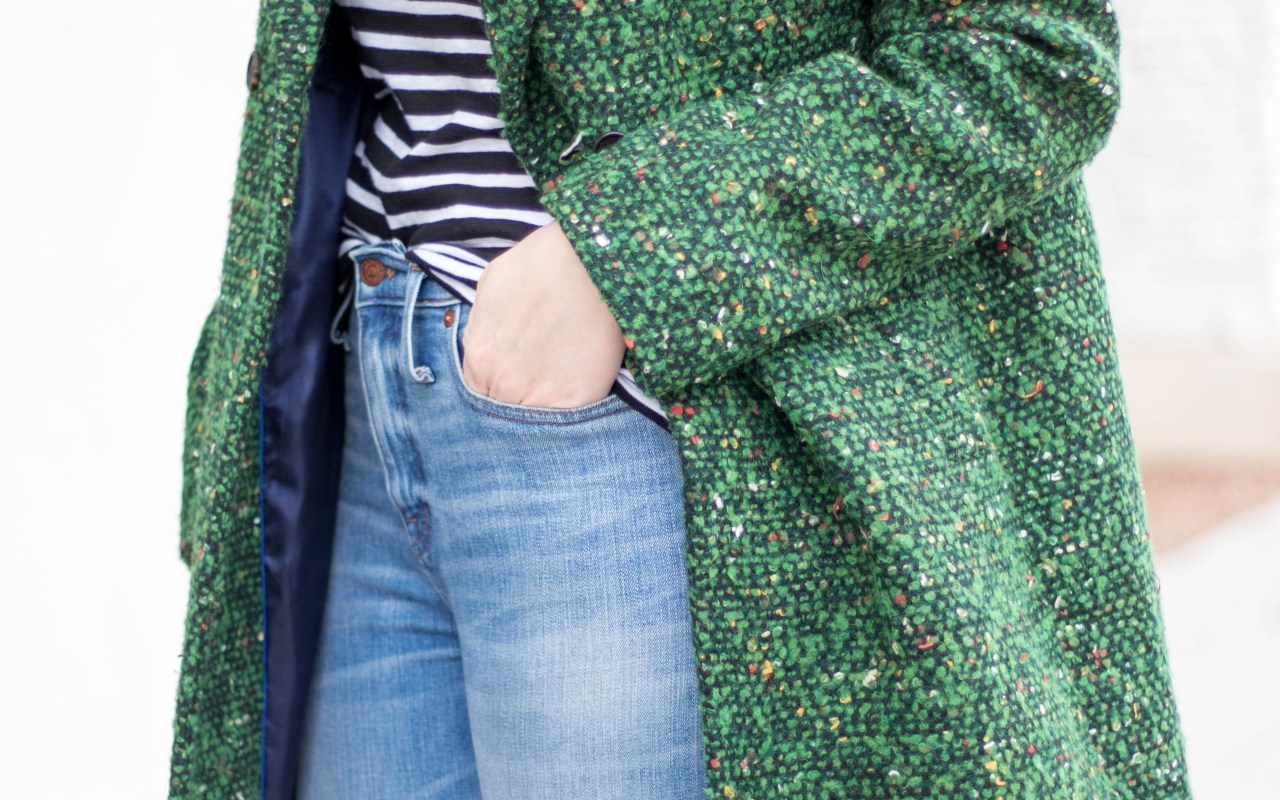 jcrew green tweed coat #jcrew #tweed #winterfashion