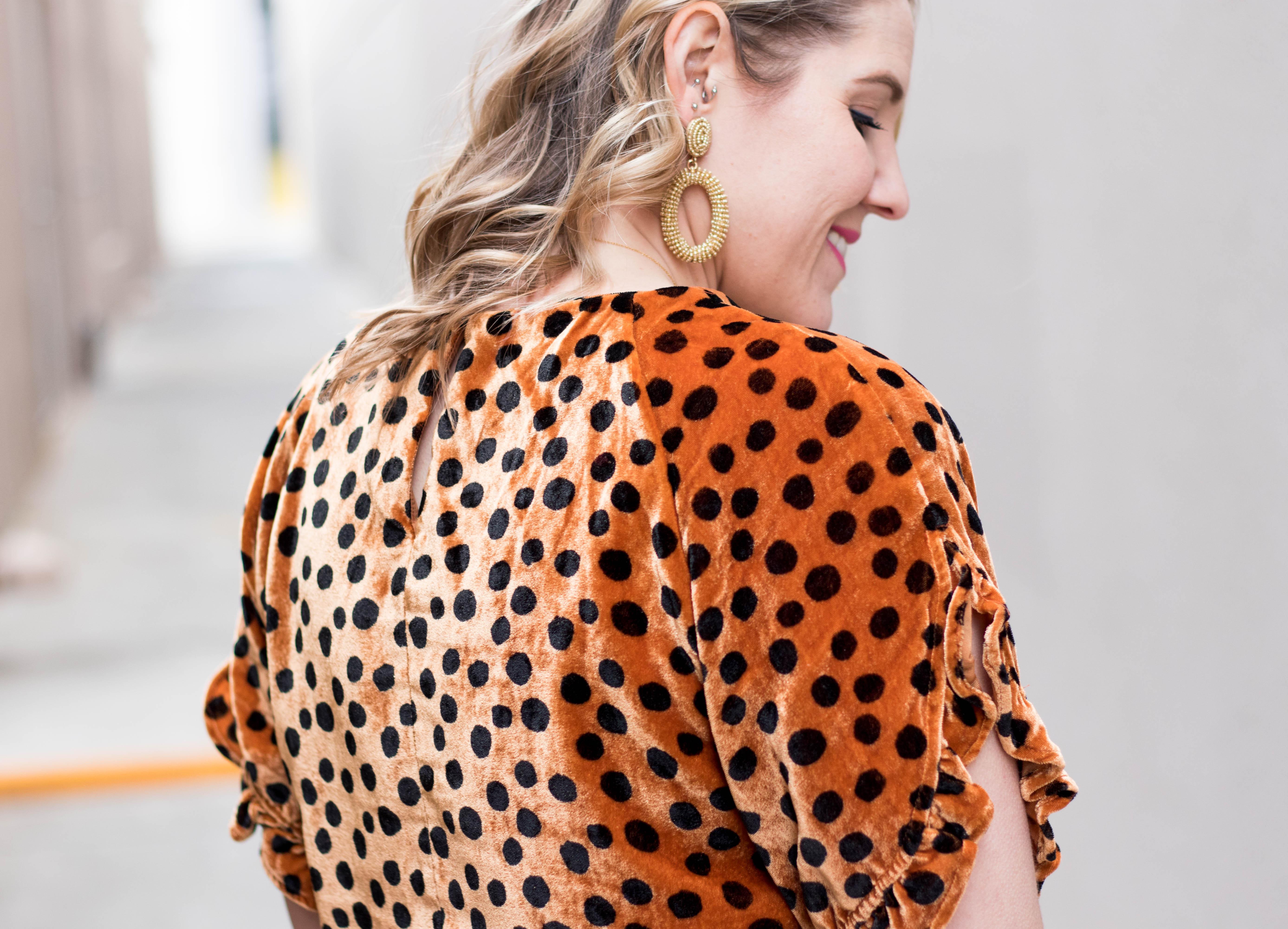 madewell velvet leopard dot top #madewell #leopard #velvet
