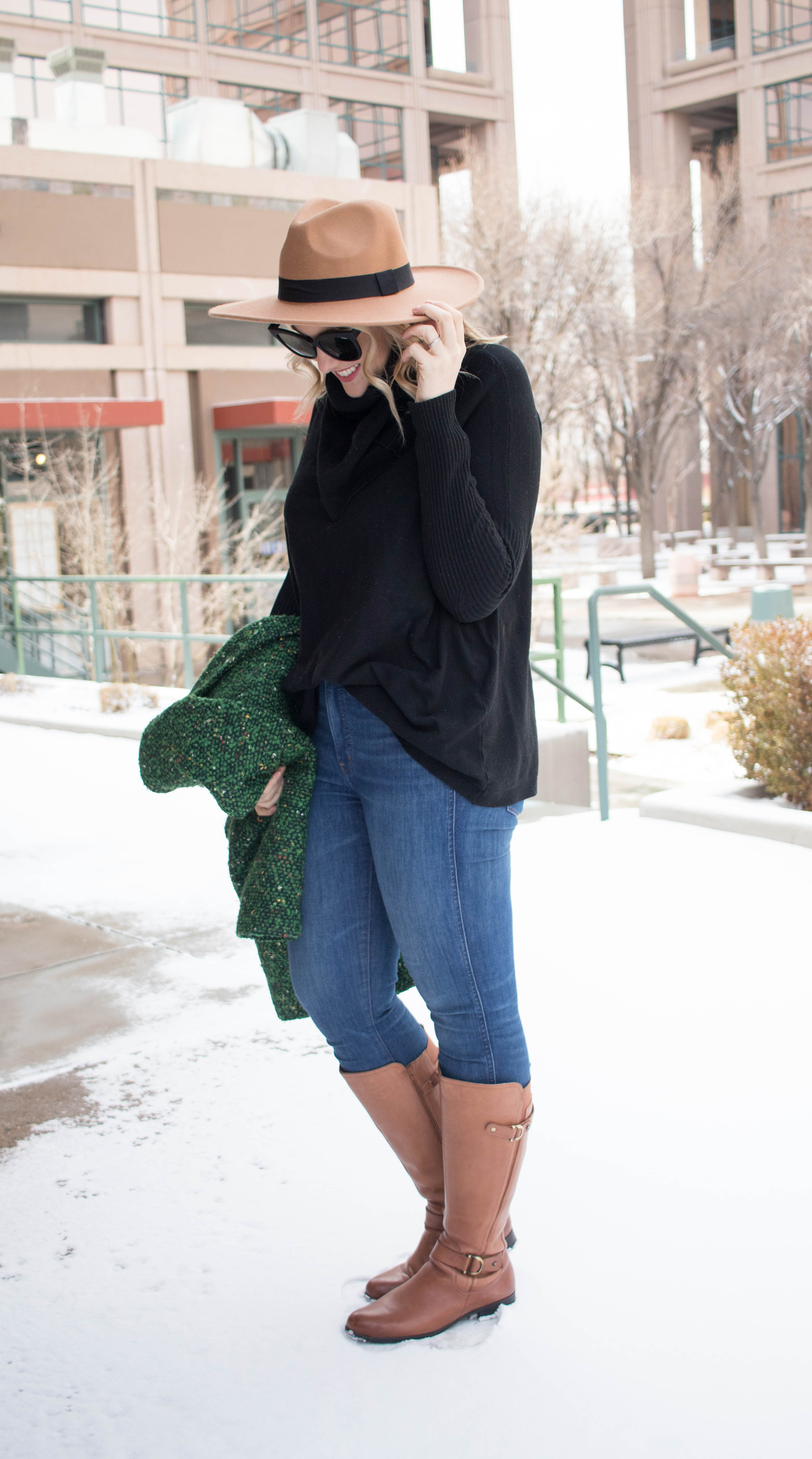 how to style riding boots for winter #winterfashion #ridingboots #tallfashion