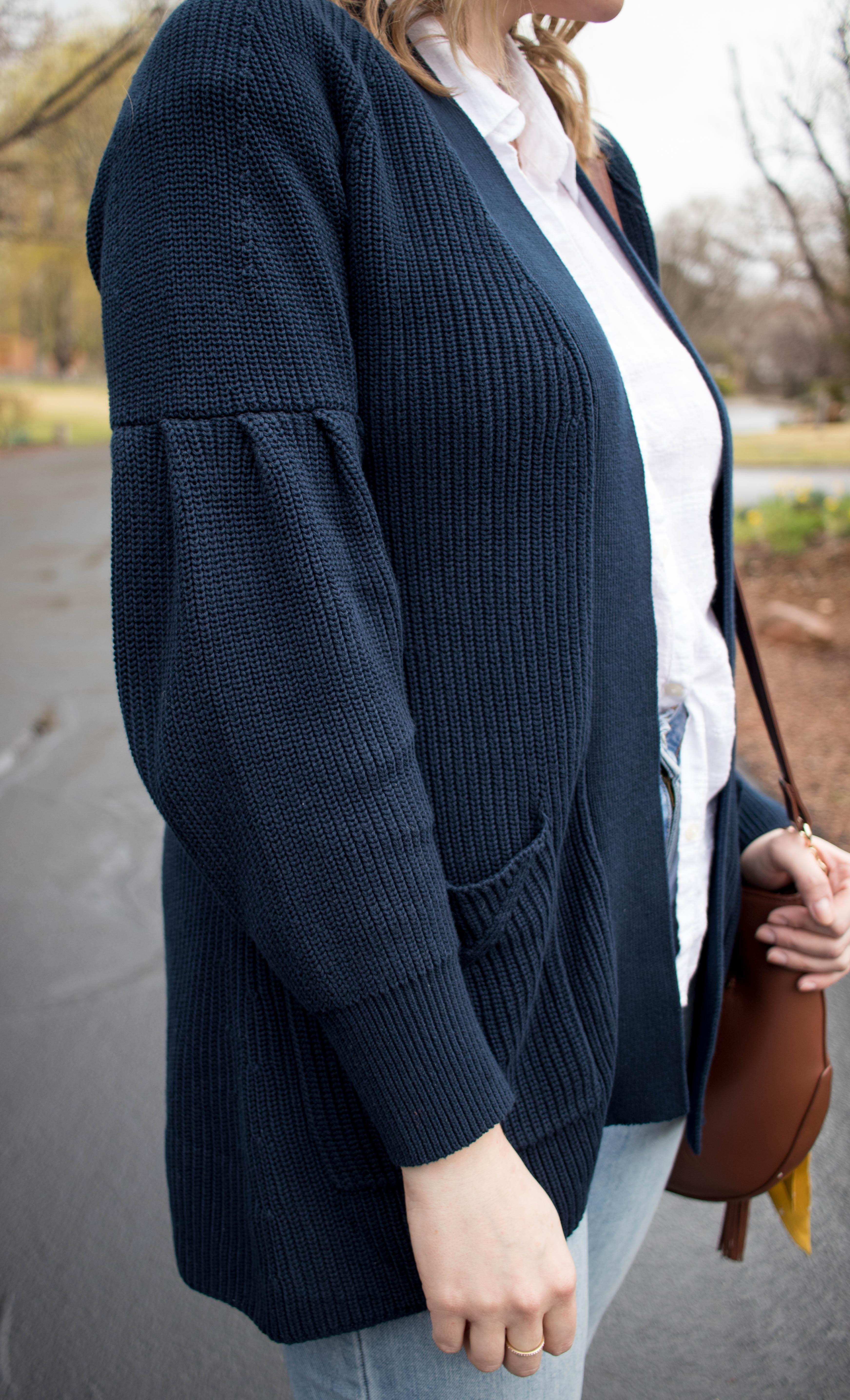 evy's tree Elizabeth navy cardigan #evystree #evystreepartner #outfitdetails