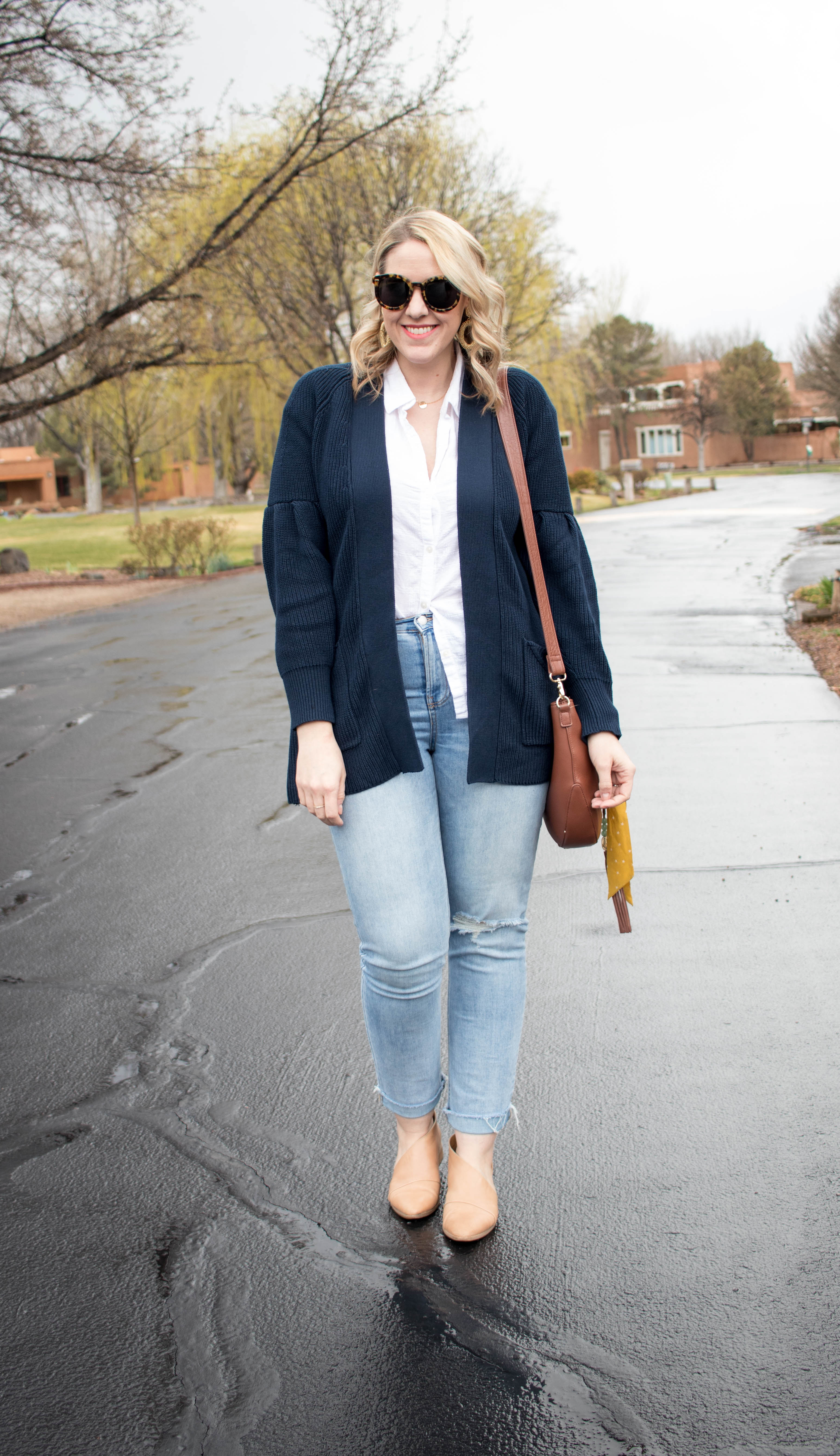 winter to spring layers transitional outfit #springstyle #styleblogger #theweeklystyleedit