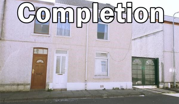 photo of blodwen st property with Completion written on it