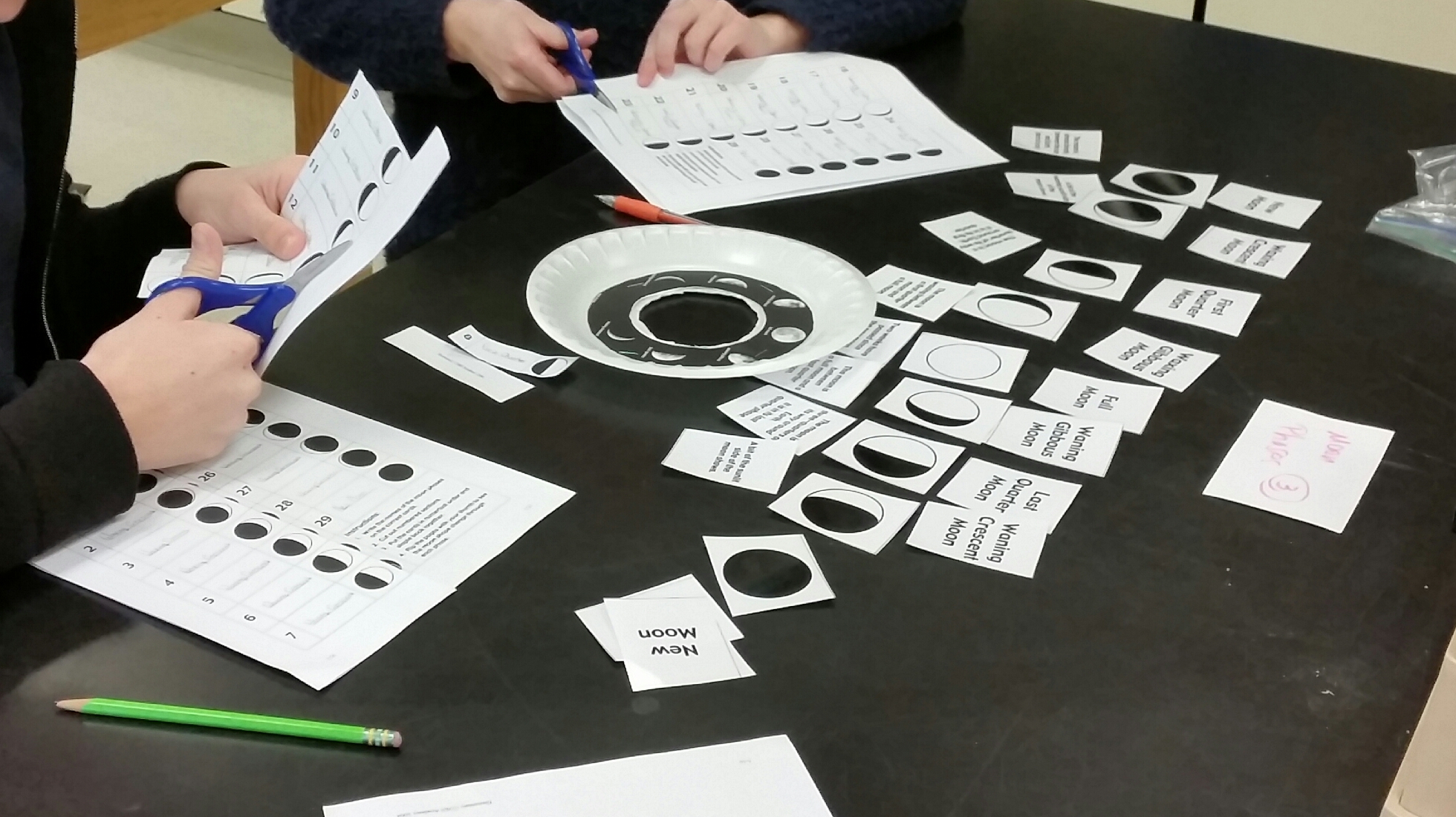 Moon Phases Flip Book Birthday And Matching Activities