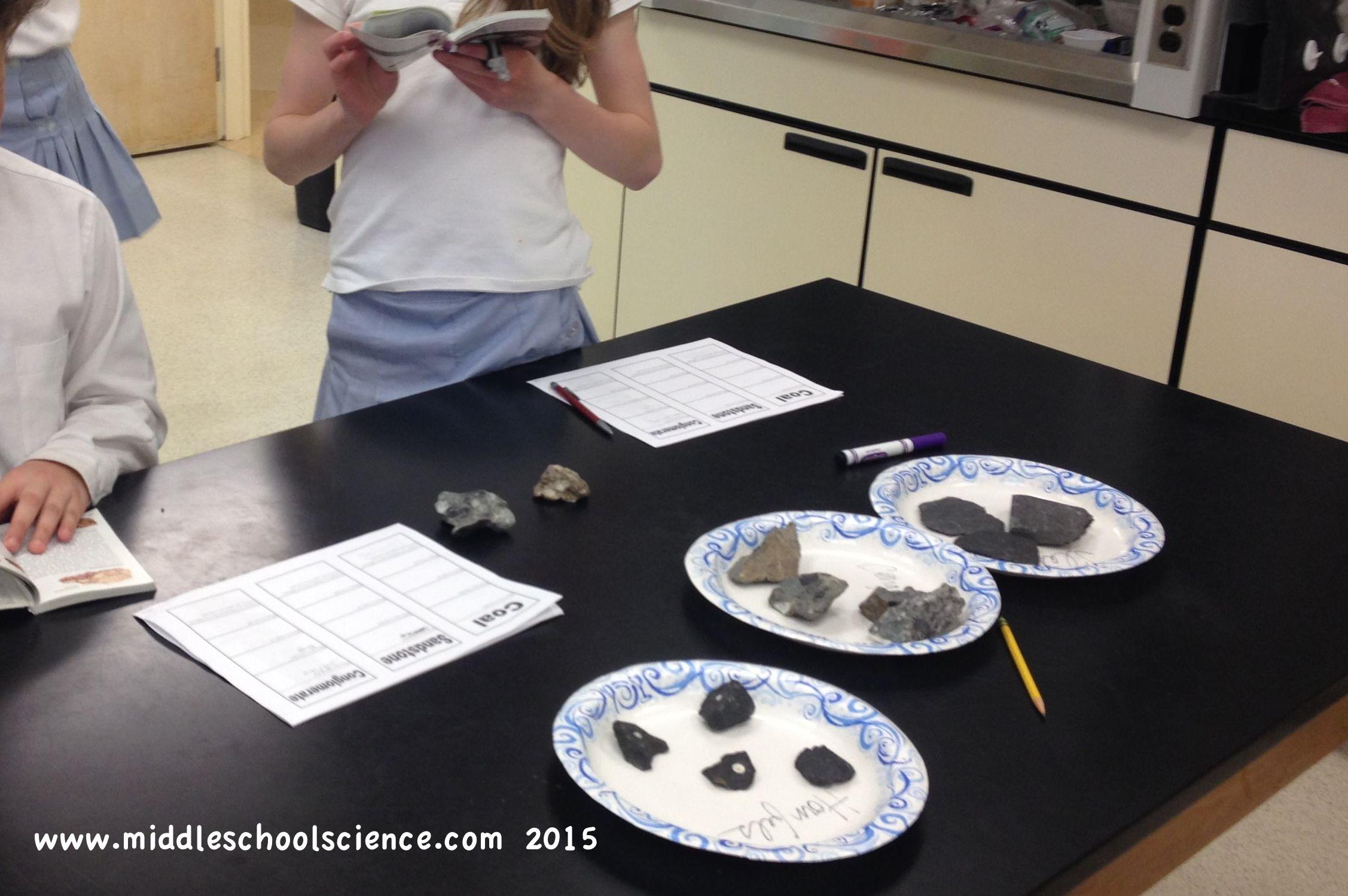 Rocks Rock Identification Stations Middle School