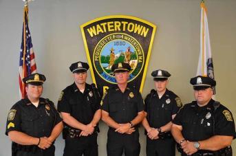 Sergeant John C. MacLellan, Sergeant Jeffrey J. Pugliese, Officer Miguel A. Colon, Jr., Officer Timothy B. Menton, and Officer Joseph B. Reynolds of the Watertown Police Department