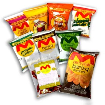 Middleswarth chip variety pack with beef jerky