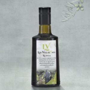 Botella de cristal 500 ml de AOVE Arbquina en producción ecológico